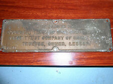 Vintage 1966 Northern Pacific Railroad Brass Plaque Sign