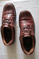 Boc Born Concept Pebbled Leather Brown Oxford Casual Lace Up Womens Shoe 8 1/2 m