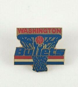 Vintage NBA Basketball Washington Bullets Pin 1987 Peter David RARE HTF
