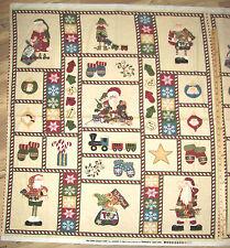Here Comes Santa Christmas Northcott FLANNEL Fabric Panel   1 Yard   F3763