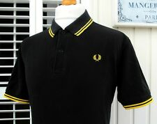 """Fred Perry M1200 Black Twin Tipped Polo - XL/XXL - 46"""" - Ska Mod Scooter Casuals"""
