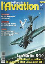 """FANA DE L AVIATION N°328 """"VAMPIRE"""" / BUGATTI 100P /GLOSTER """"METEOR"""" /MARTIN B-10"""