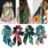 Boho Ponytail Scarf Bow Elastic Hair Rope Tie Scrunchies Ribbon Print Hair Bands