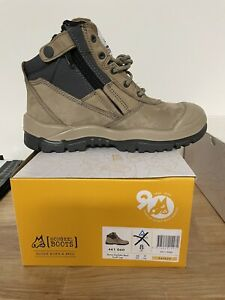 Mongrel Boots 461060,Stone, Zip Sider, Scuff Cap, Steel Toe Safety Work Boots,