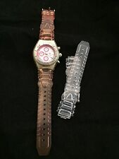 TechnoMarine Ladies Watch Pink w Mother of Pearl Face w Pink and clear bands