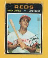 0654  1971 Topps #580 Tony Perez CINCINNATI REDS LOW GRADE CARD BK$50