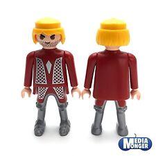 Playmobil Figurine : Chevalier blond Barbe de plusieurs jours Buste jambes