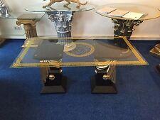 Couchtisch Glastisch Säulen griechische Tisch Medusa Barock 10/34 K 2+50