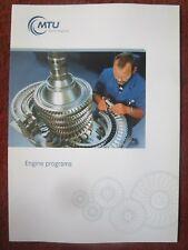 DEPLIANT MTU AERO ENGINES PROGRAMS MILITARY CIVIL ENGINE