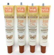 Via Argan Oil Promotes Hair Growth Makes Hair Stronger & Healthier 1.5oz 4 Pack