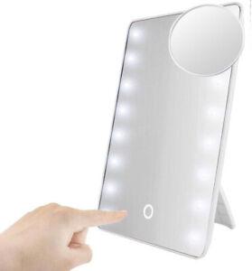 Kosmetikspiegel Schminkspiegel Tischspiegel Rasier Makeup Spiegel LED Beleuchtet