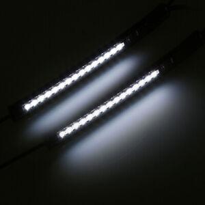 1 Pair 39mm-41mm Fork Light Strips Rubber Flexible LED Turn Signal Light For ATV