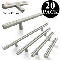 "20 Pack Brushed Nickel Cabinet Pulls Stainless Steel Drawer T Bar Handles 2""-12"""