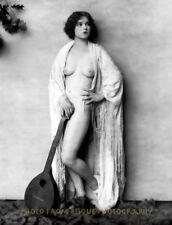 "Nude Clara Bow Against Wall 8.5x11"" Photo Print, Silent Film Star Ac Johnson Art"
