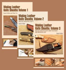 Making Leather Knife Sheaths (3 Book Set)  / knifemaking / bladesmith