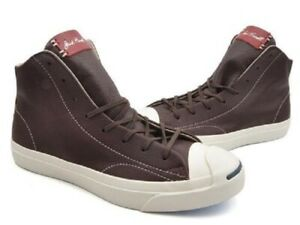 NEW Converse Jack Purcell Remastered Mid Burnt Umber/Red 151968C US Mens 8.5