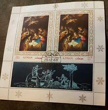 1968 Ajman christmas block