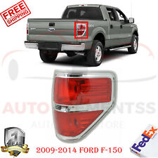 Rear Tail Light Right Side w/Chrome Bezel Trim For 09-14 Ford F-150 FX4 Crew Cab