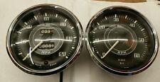 Jaeger Speedometer & Tachometer Gauge Triumph Tr4 Convex Glass