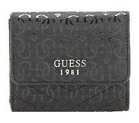 GUESS HALLEY Card & Coin Purse Schwarz, Damen-Geldbörse Portemonnaie Wallet