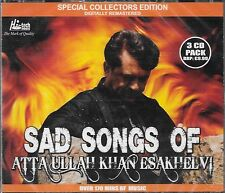 ATTA ULLAH KHAN ESAKHELVI - SAD SONGS OF  3 CDs SET