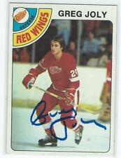 Greg Joly Signed 1978/79 Topps Card #148