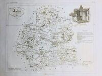 Indre en 1836 Berry Porte à Châteauroux La Chatre Le Blanc Palluau Argy Belabre