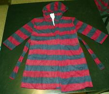 kkstr- NWT Komar Kids Boys Navy Burgundy Hooded Robe sz XS 5-6
