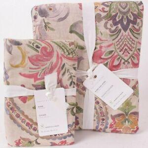 Pottery Barn Taupe Ivana Organic Cotton linen king duvet cover & 1 king sham
