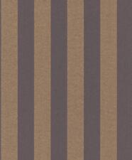 Rasch Papel pintado Comtesse 225470 Textil Rayas Bloques a Oro Marrón