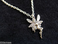 """Fairy Faerie Pendant 18"""" silver plated chain wicca pagan jewellery fantasy"""