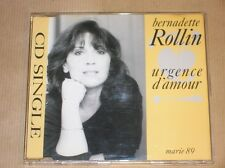 CD SINGLE 4 TITRES RARE / BERNADETTE ROLLIN / URGENCE D'AMOUR / TRES BON ETAT