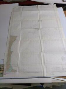 Antique Vintage Navy Nautical Chart  Aeronautical Map   Somalia  Cape Guardafui
