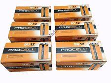 Duracell Procell 9V 9 VOLT Alkaline Batteries 72 (6 BOXES OF 12)