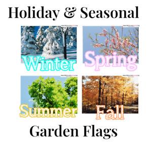 Seasons & Holiday Themed Garden Flags