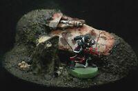 Warhammer 40k Terrain Scenery Wrecked Half Buried Valkyrie Astra Militarum