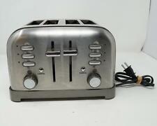 Cuisinart Kitchen Appliances Stainless Steel 4 Slice Toaster Model Rbt-380