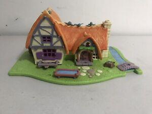 Vintage Bluebird Polly Pocket Disney Snow White Cottage Lights Up - Working