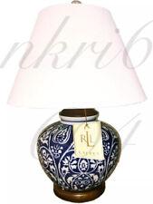 NEW! Ralph Lauren Mandarin Blue Chinoiserie Floral Ginger Jar Table Lamp Asian