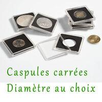 1 Capsule Quadrum pour Pièce de Monnaie diametre au choix 14 à 41 millimetres
