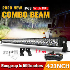 42inch 1840W LED Light Bar DRL Combo Driving Spot Flood Offroad Truck 4WD ATV