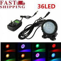 36 LED RGB Spot Light Underwater Submersible Aquarium Pond Multicolor US Plug