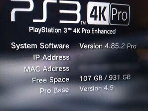 PS3 4K PRO 1TB JAILBREAK! 70 HDD Games! READ! LOOK!
