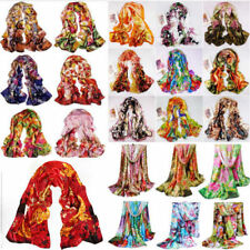 HOT SALE fashion Women girl Printed Satin Silk Scarf Wraps Shawl Stole Scarves