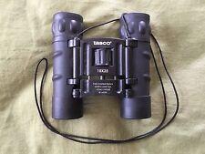 EUC BLACK 10 X 25 TASCO 168RB COMPACT FOLDING BINOCULARS EXC