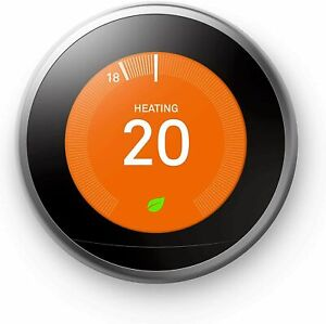 Google Nest T3028GB Stainless Steel Learning Thermostat