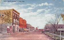 La Junta Colorado Sant Fe Avenue Antique Postcard J48188