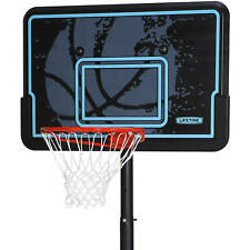 Basketball Hoop Adjustable Portable Outdoor Driveway Patio Black Resists Weather