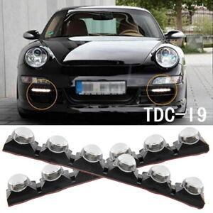 2x Flexible 6 LED Strip Car Diamond White Daytime Running Fog Daylight Lamp 12V