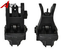 Rapid Transition Front and Rear Flip Up Folding Backup Sight Set for 20mm Rail